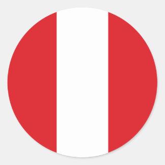 Peru Flag Round Stickers (pack) Round Stickers