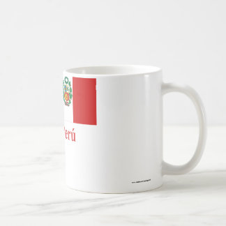Peru Flag with Name in Spanish Coffee Mug
