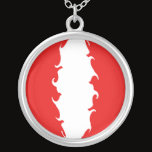 Peru Gnarly Flag Silver Plated Necklace