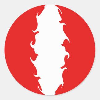 Peru Gnarly Flag Round Sticker