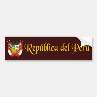 """Peru Gold"" Bumper Sticker"
