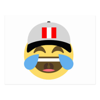 Peru Hat Laughing Emoji Postcard