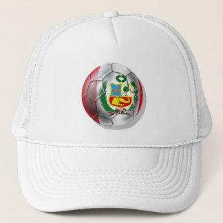 Peru La Blanquirroja La Rojiblanca soccer ball Trucker Hat