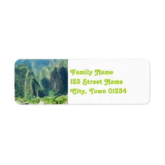 Peru Return Address Label