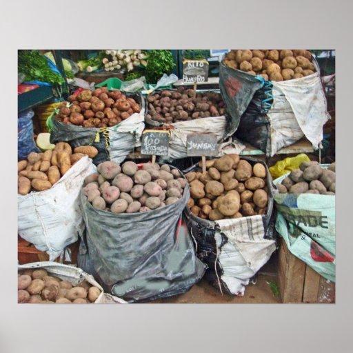 Peru-Land of Potatoes Poster