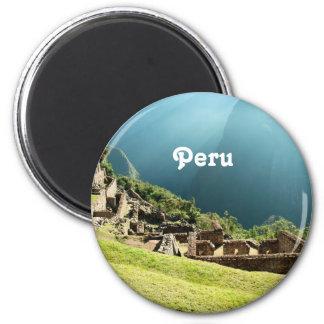 Peru Landscape 2 Inch Round Magnet