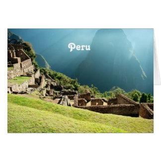 Peru Landscape Card