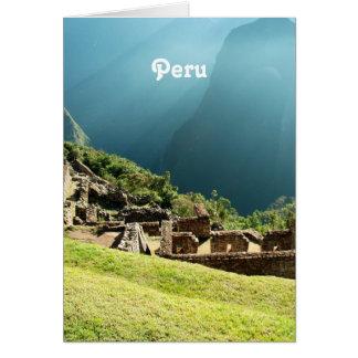 Peru Landscape Greeting Card