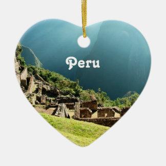 Peru Landscape Ceramic Ornament