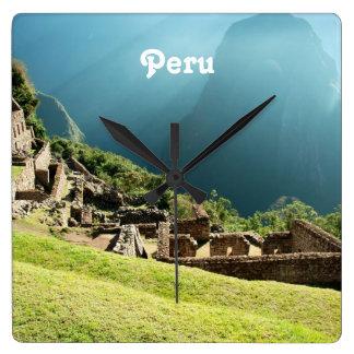 Peru Landscape Square Wall Clock