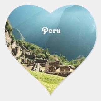 Peru Landscape Heart Sticker