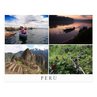 Peru landscapes in collage souvenir postcard