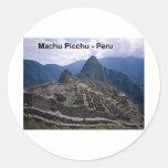 Perú las ruinas de Machu Picchu (St.K.) Etiquetas Redondas