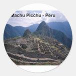Perú las ruinas de Machu Picchu (St.K.) Pegatinas