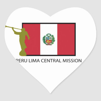 PERU LIMA CENTRA MISSION LDS CTR HEART STICKER