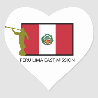 PERU LIMA EAST MISSION LDS CTR HEART STICKER