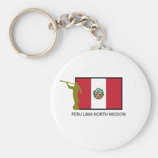 PERU LIMA NORTH MISSION LDS CTR BASIC ROUND BUTTON KEYCHAIN