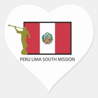 PERU LIMA SOUTH MISSION LDS CTR HEART STICKER