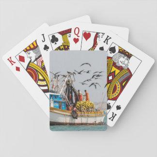 Peru, Los Organos. Fishing Boat In Los Organos Poker Deck
