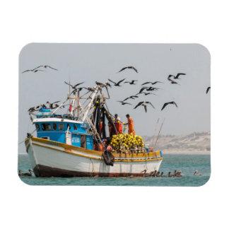 Peru, Los Organos. Fishing Boat In Los Organos Rectangular Photo Magnet