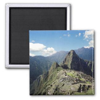 Perú, Machu Picchu, la ciudad perdida antigua de 2 Imán Cuadrado