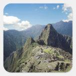 Perú, Machu Picchu, la ciudad perdida antigua de 2 Pegatina Cuadrada