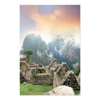 Perú, Machu Picchu, la ciudad perdida antigua de 3 Cojinete
