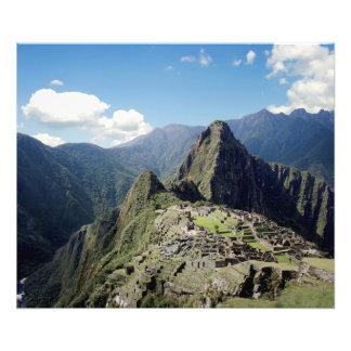 Perú, Machu Picchu, la ciudad perdida antigua de Cojinete