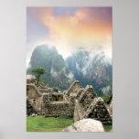 Perú, Machu Picchu, la ciudad perdida antigua de Poster