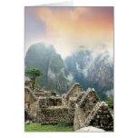Perú, Machu Picchu, la ciudad perdida antigua de Tarjeton