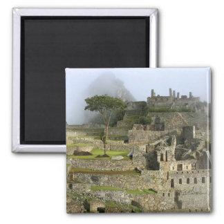 Peru, Machu Picchu. The ancient citadel of 2 Inch Square Magnet