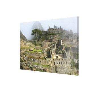 Peru, Machu Picchu. The ancient citadel of Canvas Print
