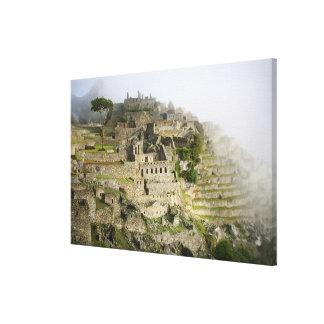 Peru, Machu Picchu. The ancient citadel of Machu Canvas Print