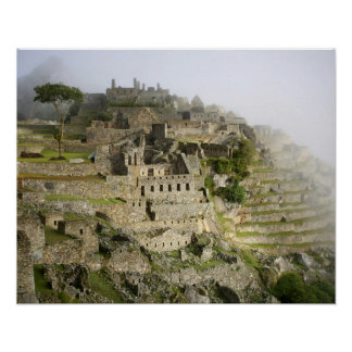 Peru, Machu Picchu. The ancient citadel of Machu Poster