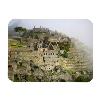 Peru, Machu Picchu. The ancient citadel of Machu Rectangular Photo Magnet