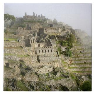 Peru, Machu Picchu. The ancient citadel of Machu Tile