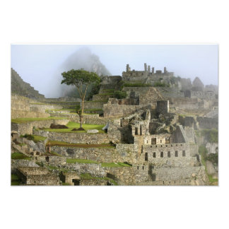 Peru, Machu Picchu. The ancient citadel of Photo Print