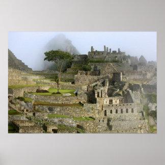 Peru, Machu Picchu. The ancient citadel of Poster