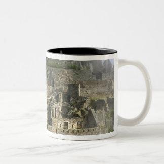Peru, Machu Picchu. The ancient citadel of Two-Tone Coffee Mug