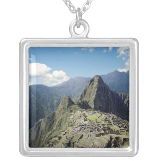 Peru, Machu Picchu, the ancient lost city of 2 Silver Plated Necklace