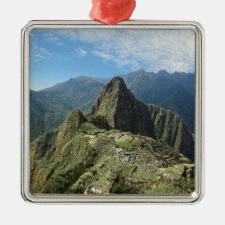 Peru, Machu Picchu, the ancient lost city of 3 Metal Ornament