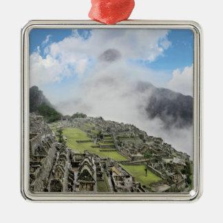Peru, Machu Picchu, the ancient lost city of 4 Metal Ornament