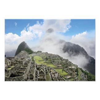 Peru, Machu Picchu, the ancient lost city of 4 Photo Print