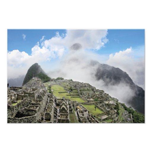 Peru, Machu Picchu, the ancient lost city of 4 Photo Art