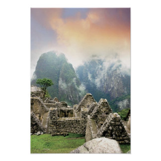 Peru, Machu Picchu, the ancient lost city of Poster