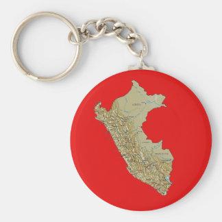 Peru Map Keychain