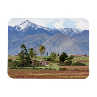 Peru, Maras. Landscape Above The Sacred Valley Magnet