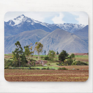 Peru, Maras. Landscape Above The Sacred Valley Mouse Pad