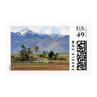 Peru, Maras. Landscape Above The Sacred Valley Postage