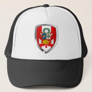 Peru Metallic Emblem Trucker Hat